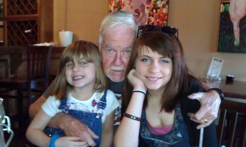 Poppa & the girls Jan 2012
