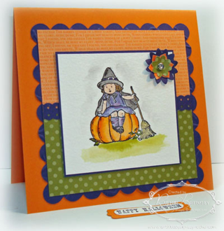 Greeting card kids halloween